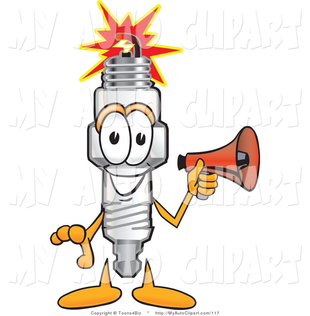 1024x1044 Clip Art Of A Friendly Spark Plug Mascot Cartoon Character Holding