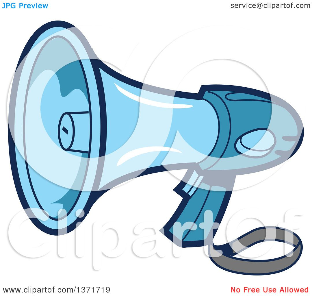 1080x1024 Clipart Of A Blue Megaphone Bullhorn