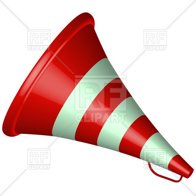 400x400 Old Bullhorn Red Icon Royalty Free Vector Clip Art Image