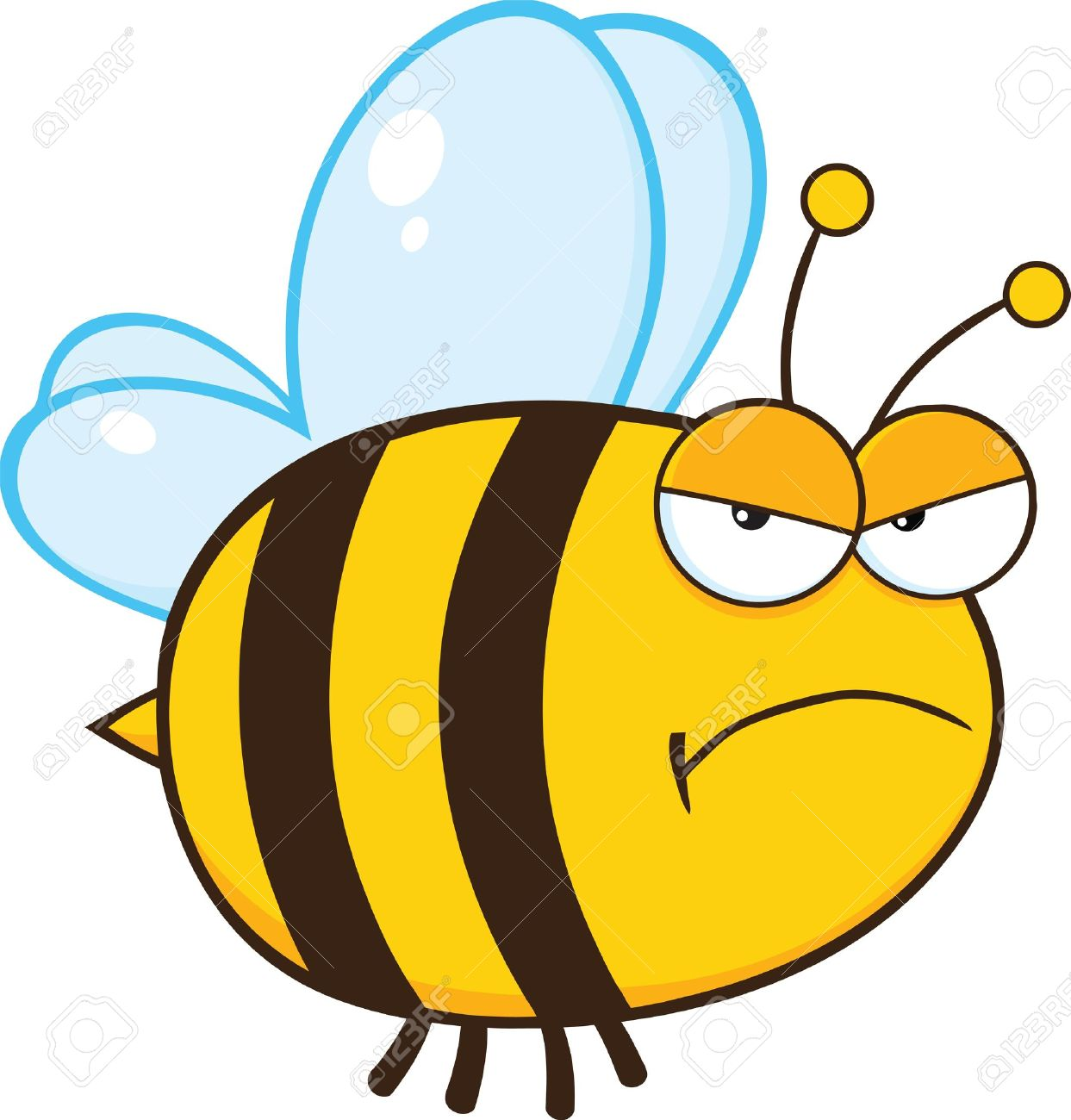 1243x1300 Angry Bee Cartoon Mascot Character Royalty Free Cliparts, Vectors