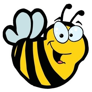300x300 Bee Cartoon Clipart
