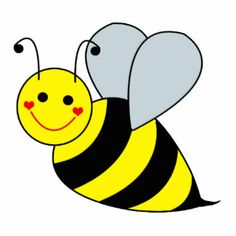 236x236 Bumble Bee Bee Clipart Image Brightly Colored Cartoon Honey Bee