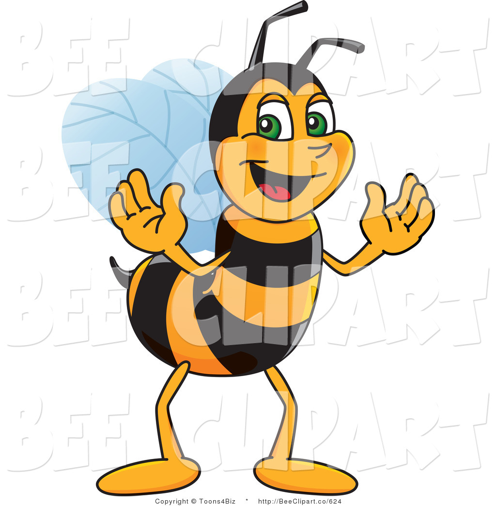 1024x1044 Clip Art Of A Worker Bumble Bee Character Mascot By Toons4biz
