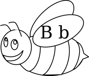 298x255 Bumble Bee Outline Clip Art