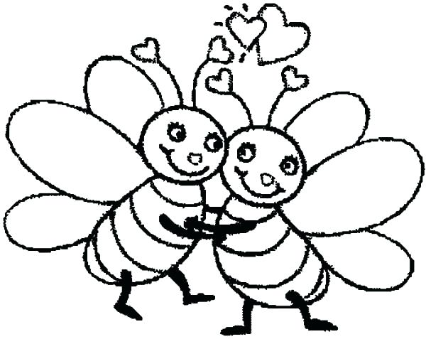 600x477 Bumble Bee Pictures To Color Bumble Bee Coloring Pages For Kids