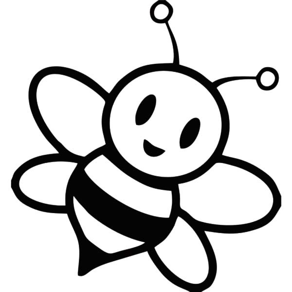 600x600 Bumblebee Clipart Coloring Page