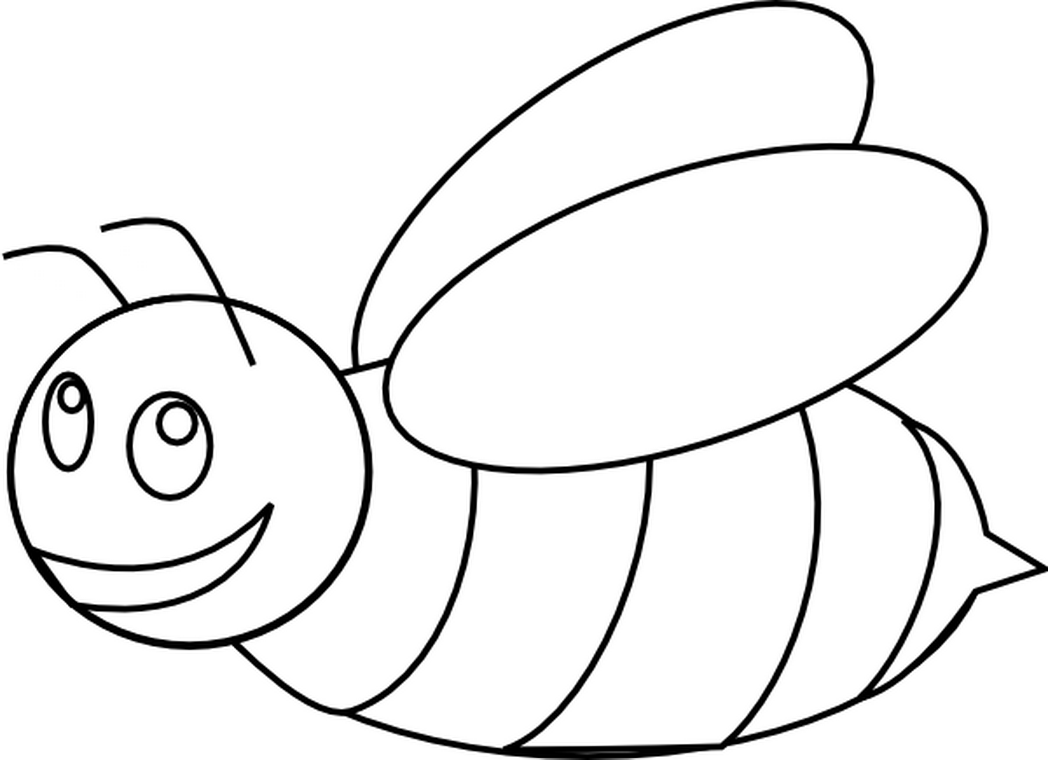 1048x760 Bumblebee Clipart Outline