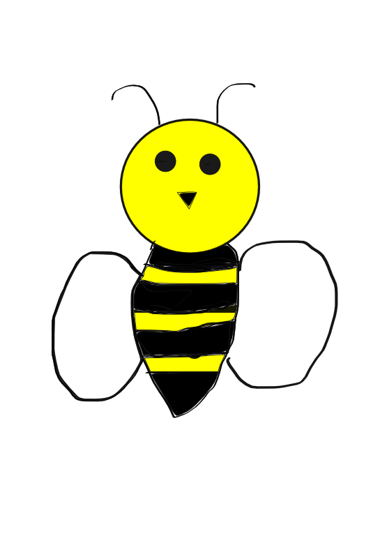 555x785 Bumble Bee Honey Clipart Image Cartoon Flying Around