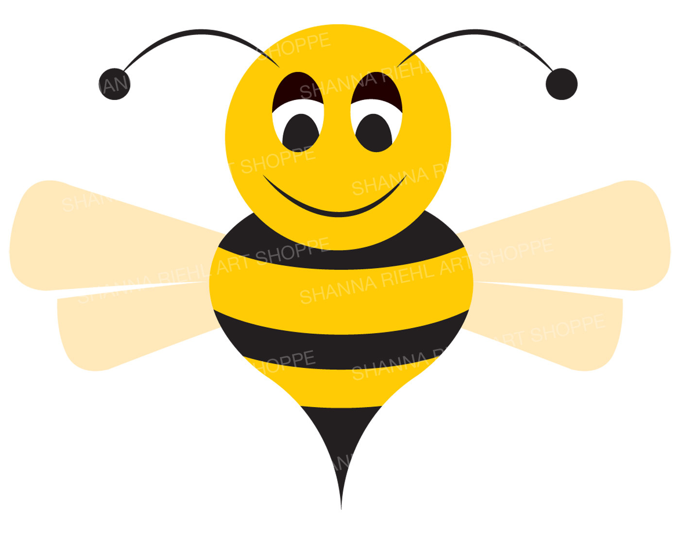 1400x1100 Bumblebee Clipart Honey Bee