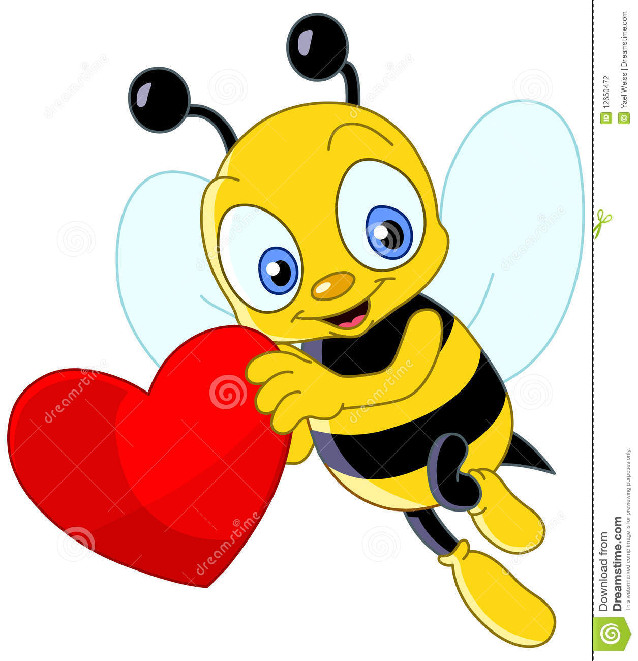 1255x1300 Bee Clipart Heart