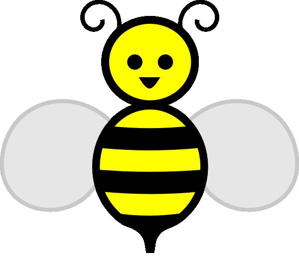 600x514 Happy Bumble Bee Clip Art