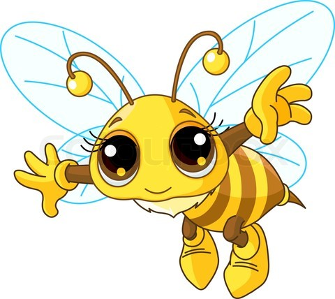 480x428 Free Clip Art Insects Cute Bee Showing Stock Images