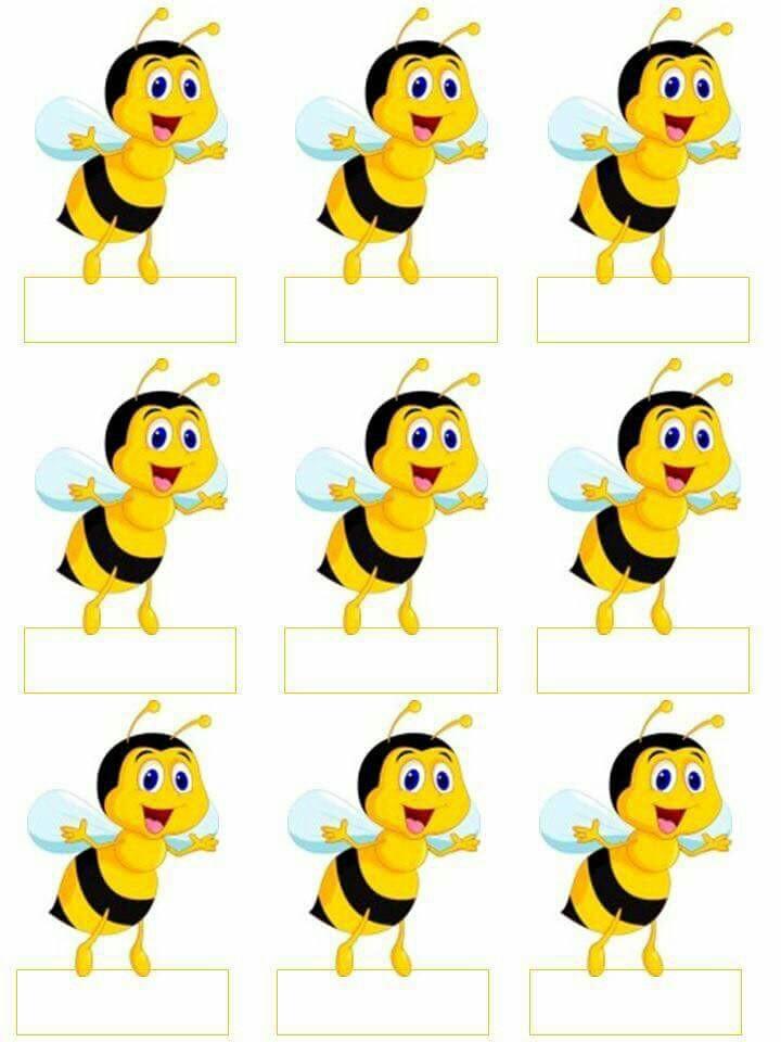 720x960 Naamkaartjes Voor Het Takenbord Albinute Bees, Bee