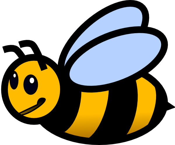 600x498 Bumble Bee Black And White Bee Clip Art