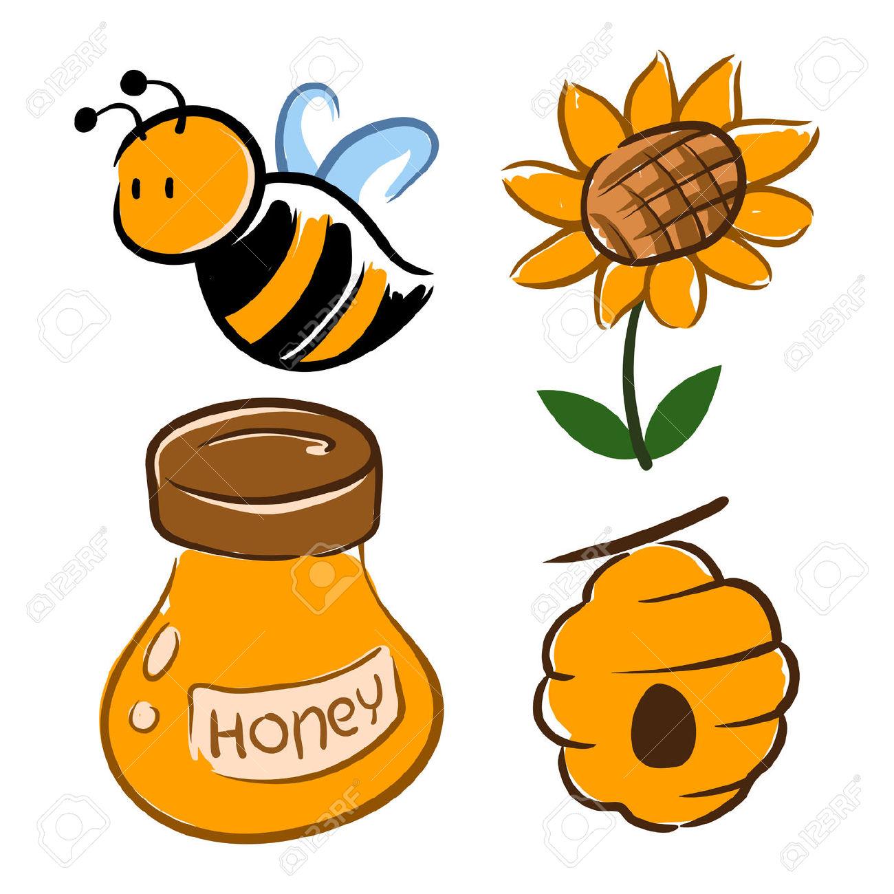 1300x1300 Bumblebee Clipart Bee Flower