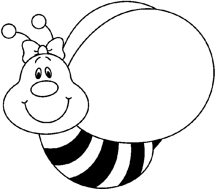 736x648 Bee Clipart Black And White Free