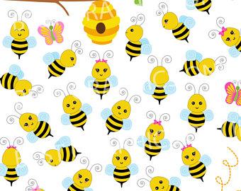 340x270 Bee Clip Art Bumble Bee Clipart Digital Bee Bee Digital Paper