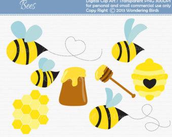 340x270 Honey Bee Clipart Etsy