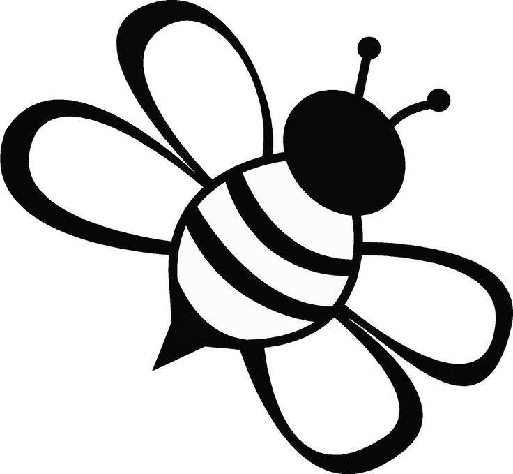 736x679 Bee Clipart Black And White