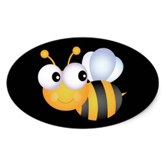 324x324 Bumble Bee Stickers Zazzle.co.uk