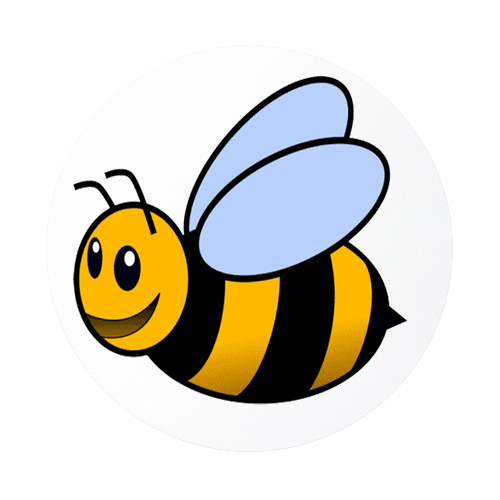 500x500 Cute Cartoon Bumble Bee