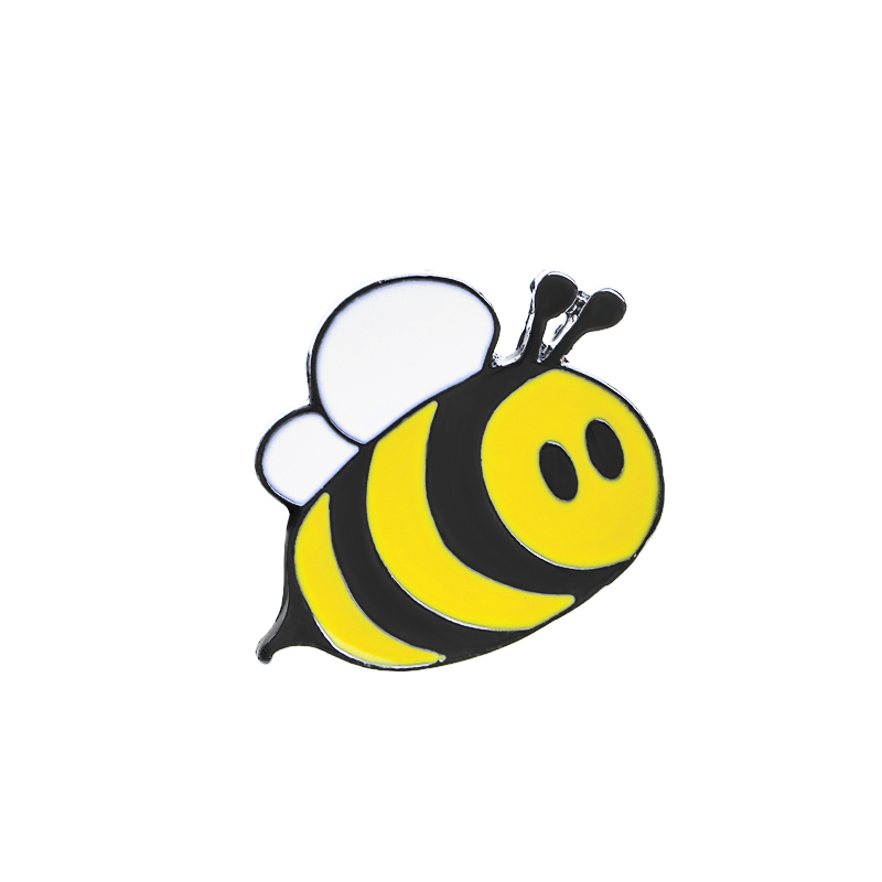 800x800 Cute Happy Bumblebee Honey Bee Hat Lapel Pins Enamel Pin