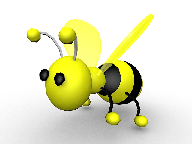 640x480 Cute Cartoon Bumble Bee 3d Model 3ds Max Files Free Download
