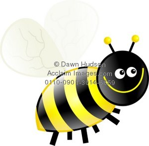 300x294 Illustration Of A Cute Cartoon Bumble Bee