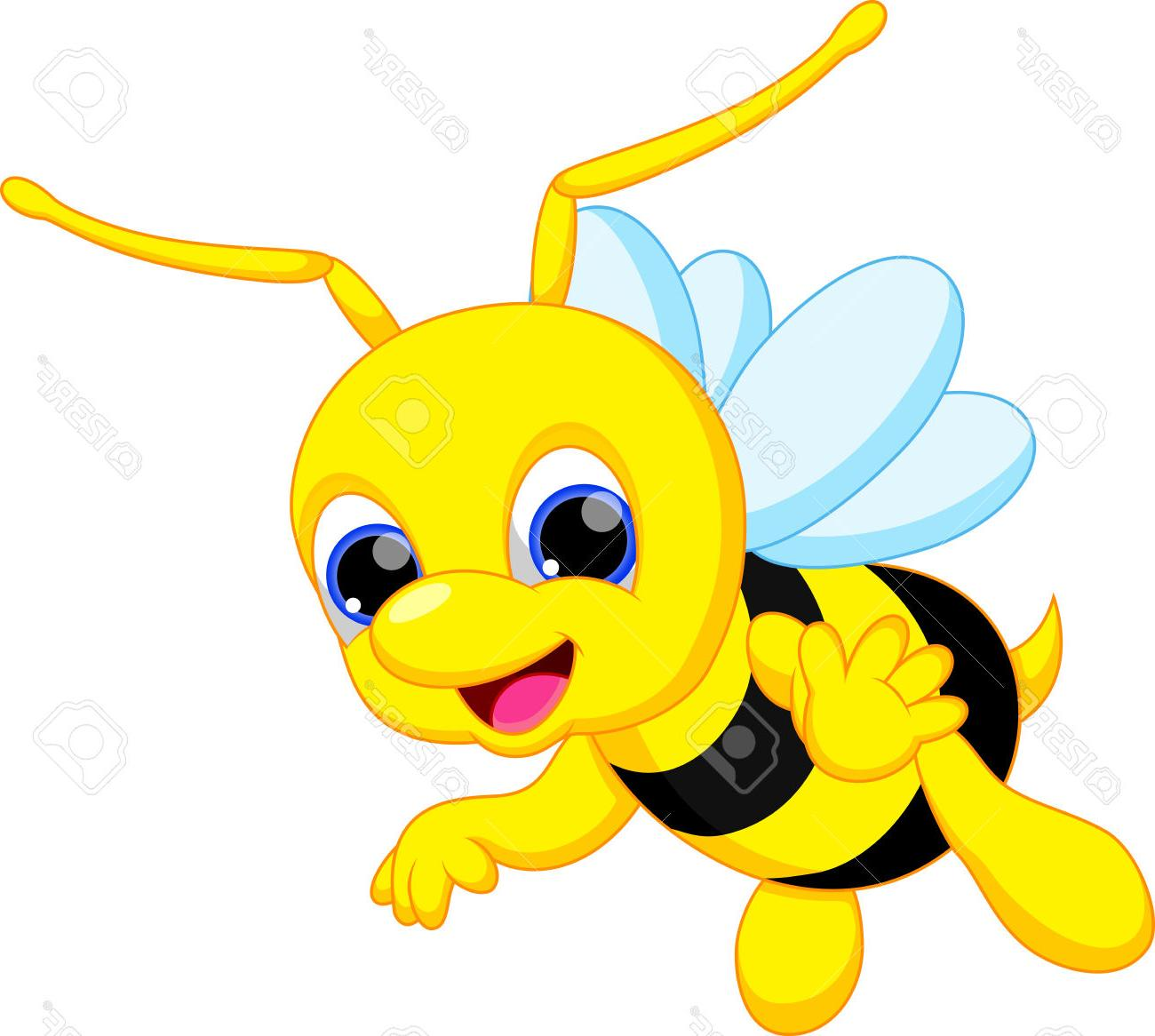 1300x1166 Best 15 Cute Bee Cartoon Stock Vector Bumblebee Photos