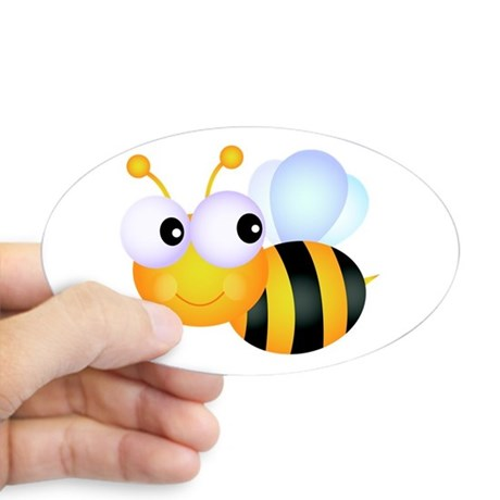 460x460 Bumble Bee Stickers Cafepress