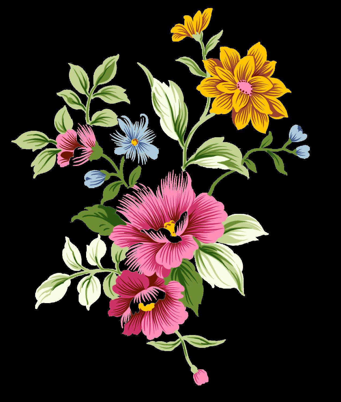 1271x1500 Art Nouveau Bouquet Flowers Decoupage Bouquet