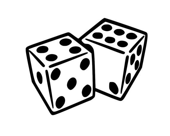 570x458 Dice Decal Gambling Dice Craps Yahtzee Dice Bunco