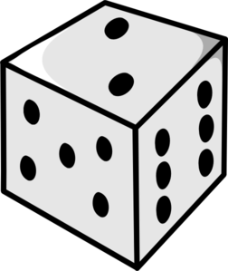 252x299 Dice Clip Art Illustration Of A Image