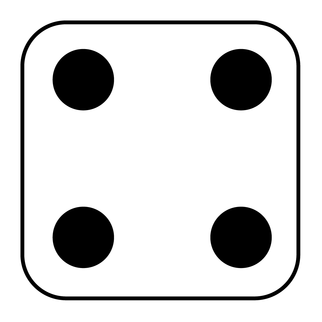 1050x1050 Dice Number 5 Clipart Image