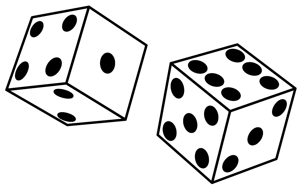 1299x799 3 Bunco Dice Clipart