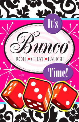 257x396 It's Bunco Time Flag
