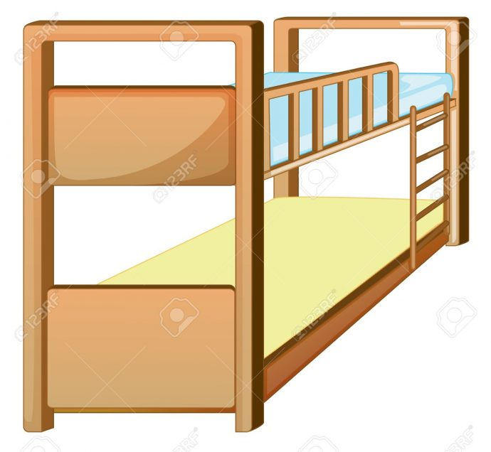 690x636 Bedroom Gorgeous Bunk Bed Clip Art 13376700 Illustration