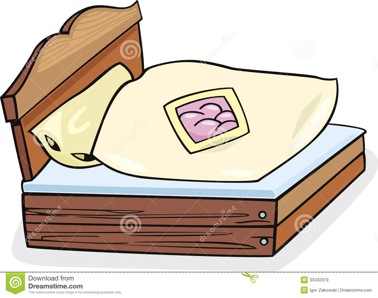 1300x1025 Furniture Clipart Wooden Bed