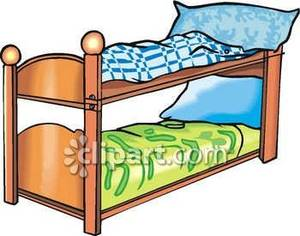 300x236 Set Of Bunk Beds With Colorful Sheets