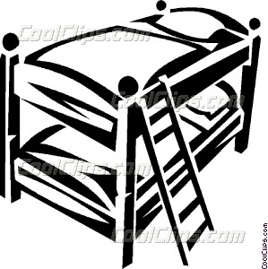 299x300 Bunk Beds Vector Clip Art