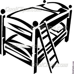 299x300 Bunk Beds Vector Clip Art