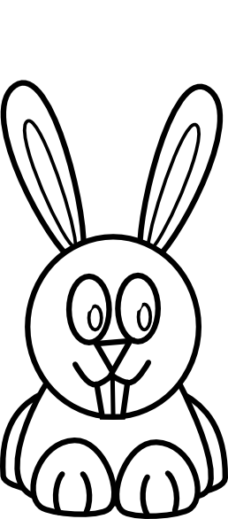 Bunny Black And White Clipart