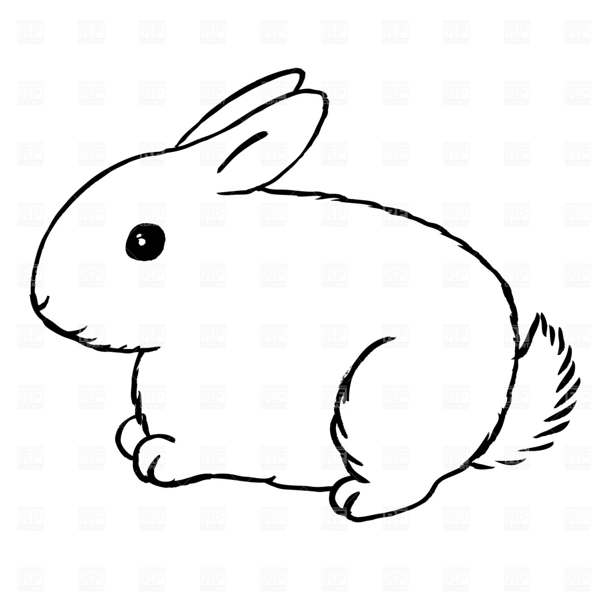 1200x1200 Bunny Clipart Black And White Free Clipart Images 2
