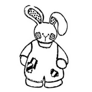 300x300 Clipart Picture Of A Bunny In Overalls