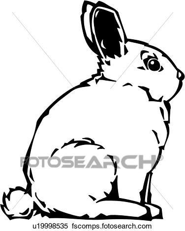 376x470 Clipart Of Bunny U19998535