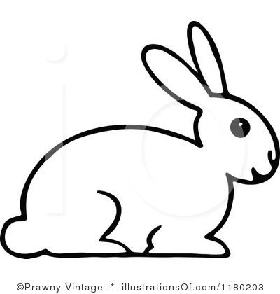400x420 Rabbit Black And White Clipart