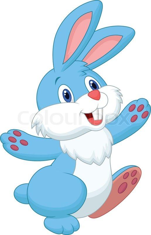516x800 Vector Illustration Of Happy Rabbit Cartoon Stock Vector Colourbox