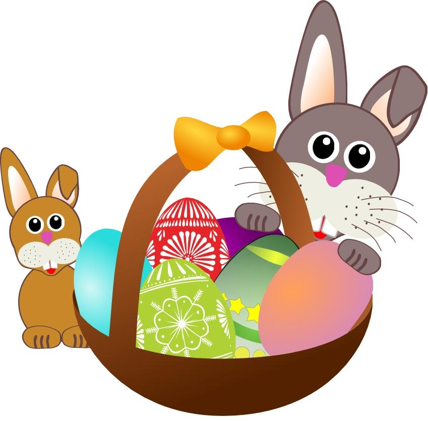 849x835 Lucky Easter Bunny Clipart