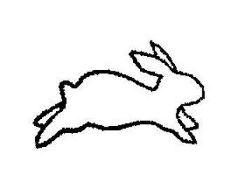 340x270 Bunny Outline Clipart