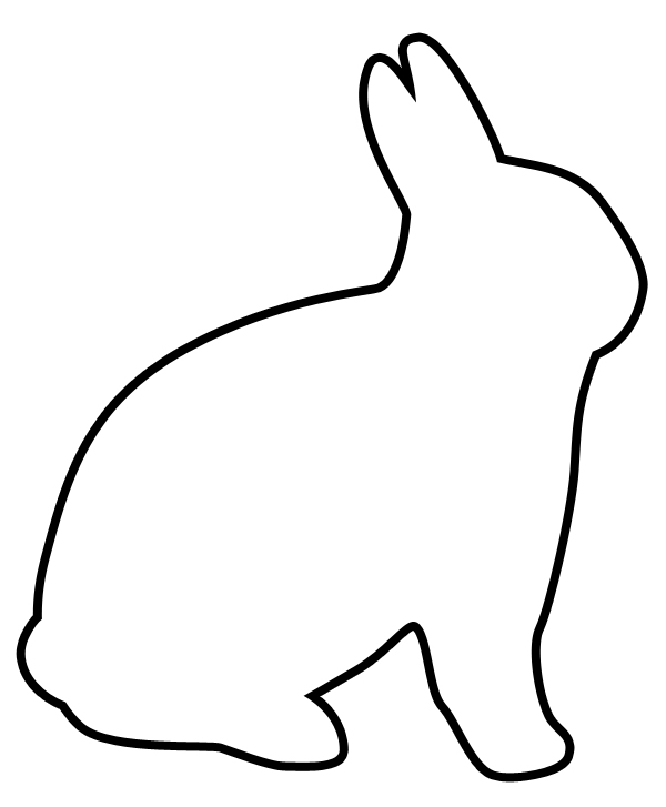 600x727 Bunny Black And White Free Bunny Clipart